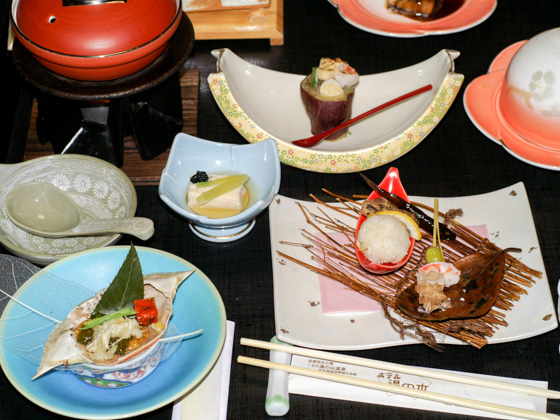 Local cuisine of the Yunoyama Onsen district