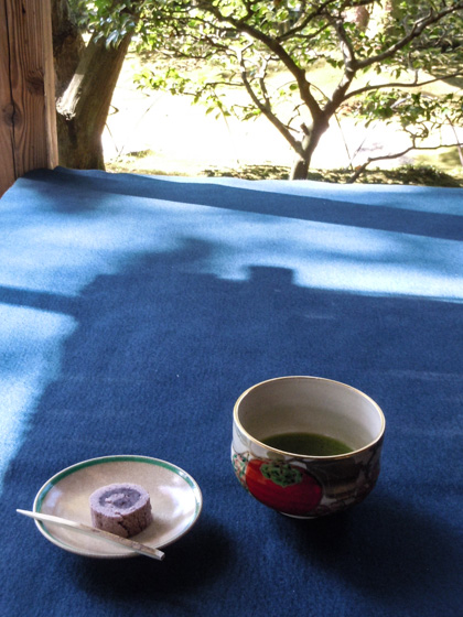 Tea served at the former Shoden-in Shoin