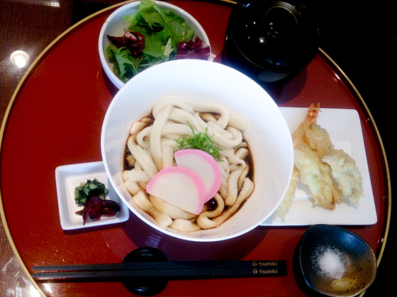 Ise-udon lunch set at Tsumiki