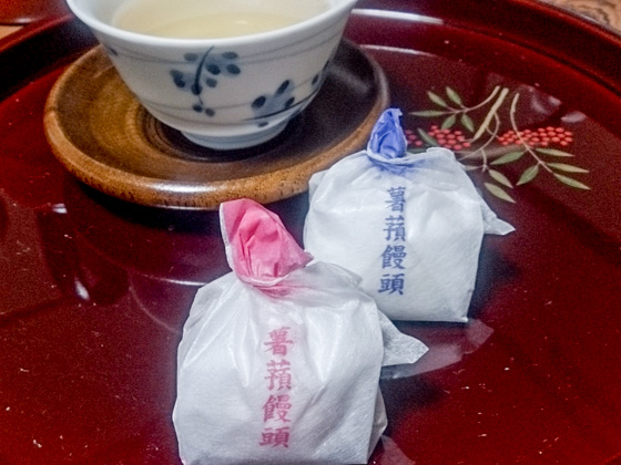 the Jyouyou-manjyu is a must-try sweet bun