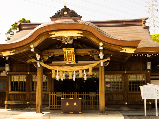 Main building of Tagata-Jinja Shrine