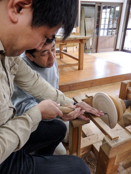 Wood turning